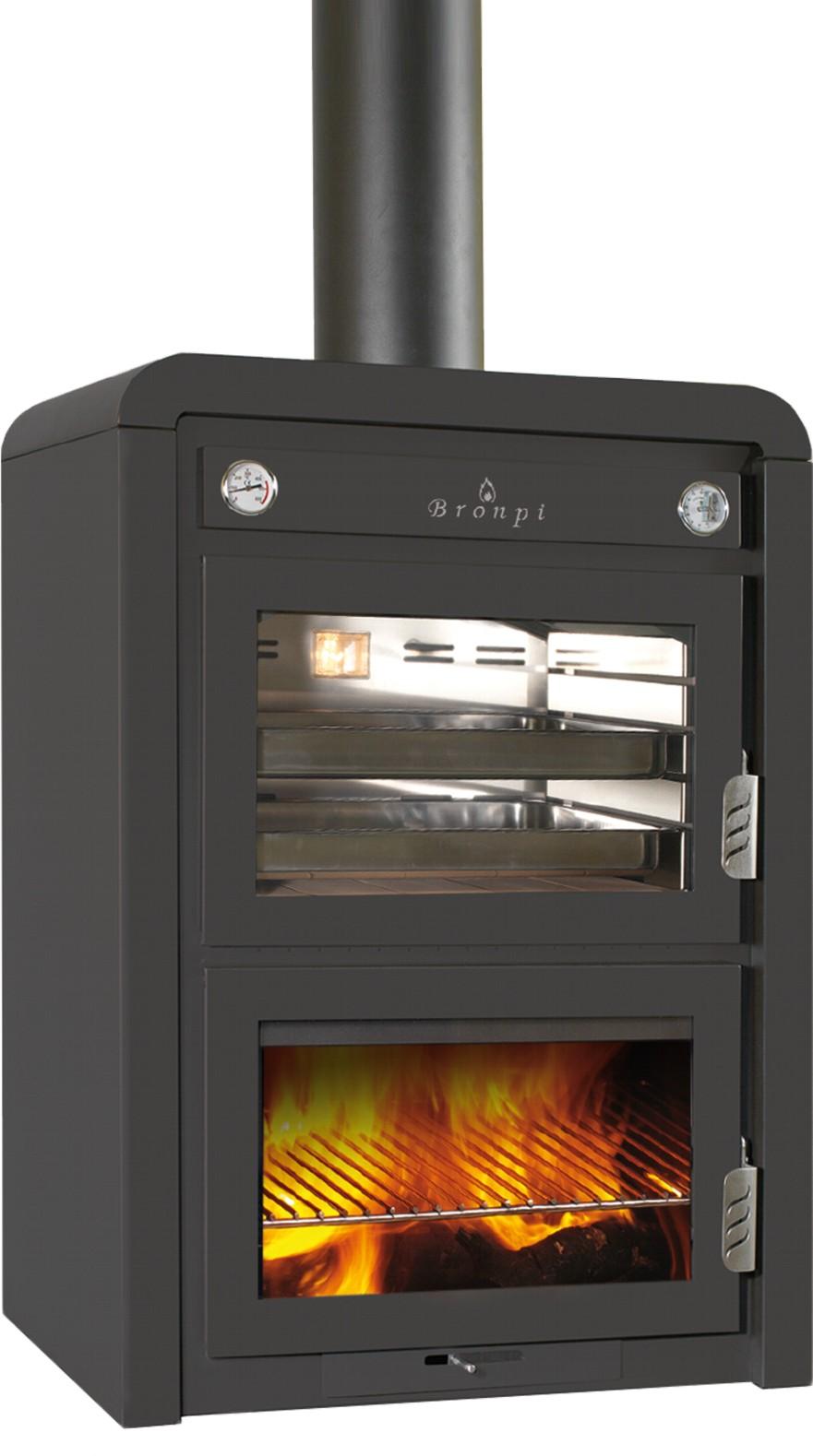 Calefacci n hornos horno bronpi le a mod ojen 13kw - Modelos de hornos de lena ...