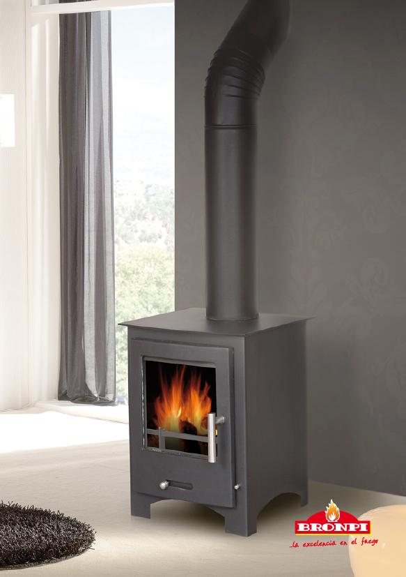 Calefacci n estufas de le a estufa bronpi practick - Estufas de lena para calefaccion con radiadores ...