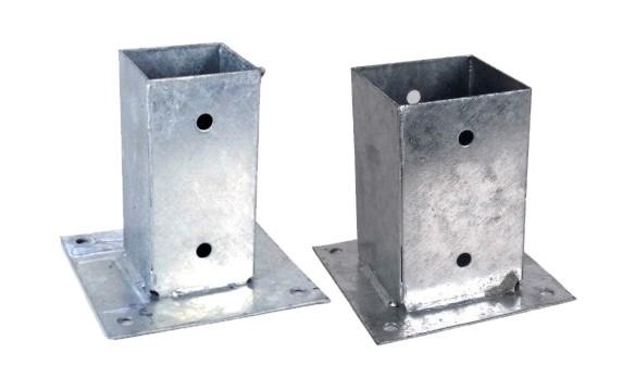 Construccion anclajes y tornilleria anclaje metalico - Bases para pergolas ...