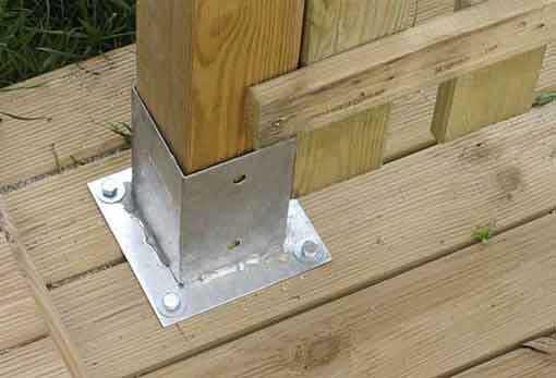 Construccion anclajes y tornilleria anclaje metalico for Bases para pergolas