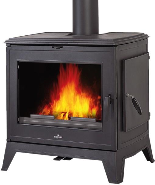Calefacci n estufas de le a estufa fundici n con - Estufas de lena para calefaccion con radiadores ...