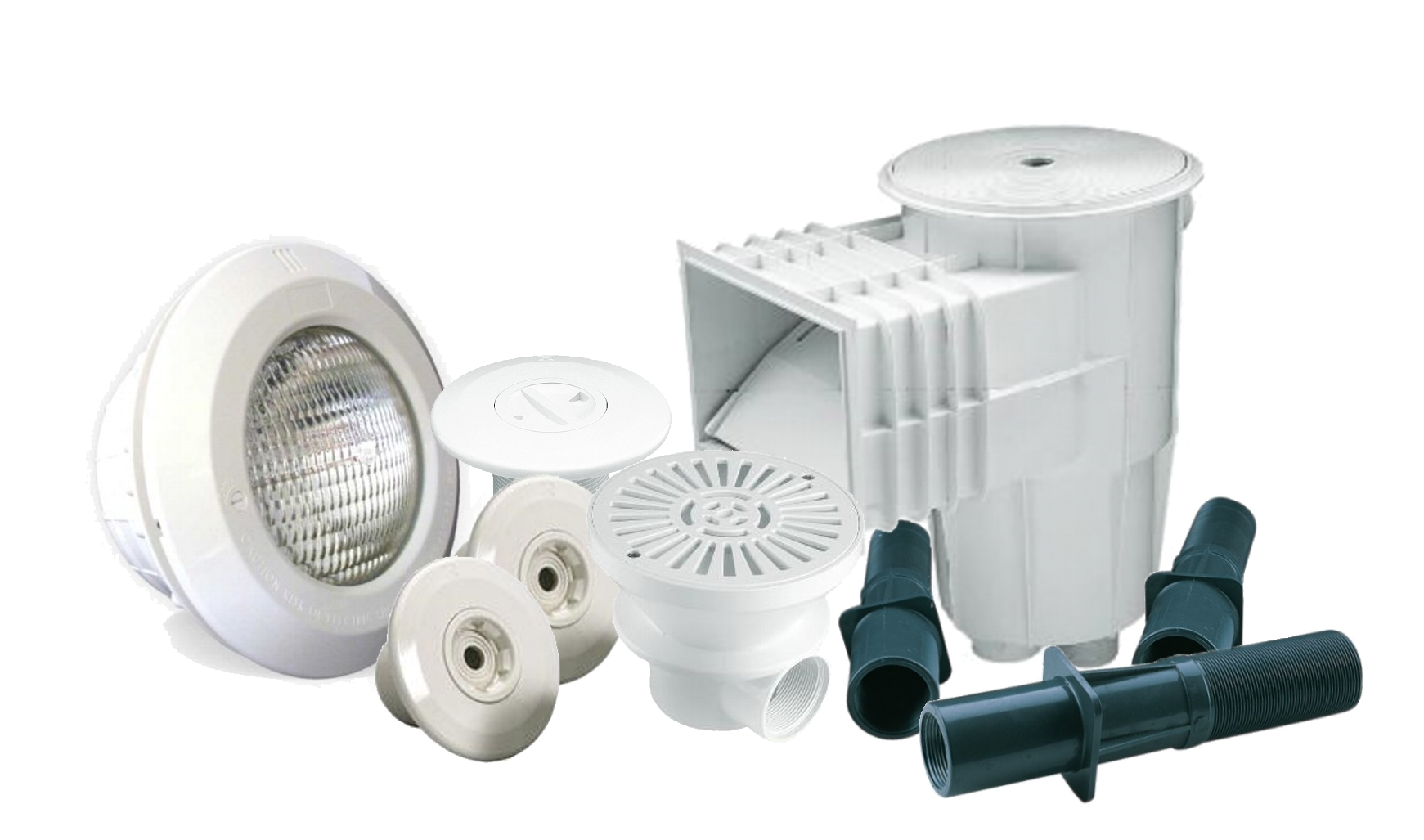 Piscinas material vaso pack construccion piscina 1 skimmer boquillas sumidero foco - Boquillas de impulsion para piscinas ...