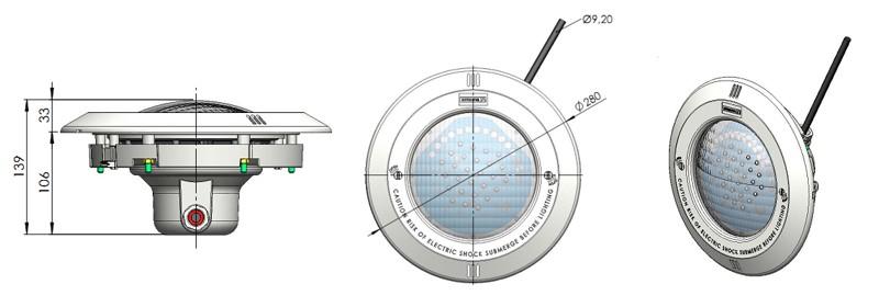 piscinas iluminacion y electricidad pack proyector